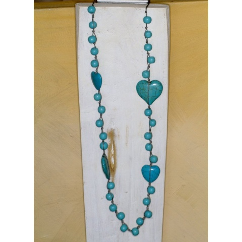 Heart and Wood Necklace