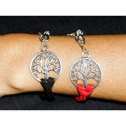 Tree of Life Bracelet Colour Option black, red, brown, grey